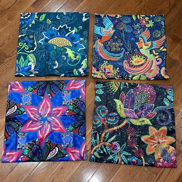 New set/4 vibrant pillow covers